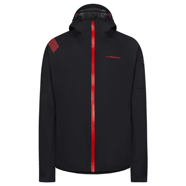 Run Jacket Women Black/Hibiscus