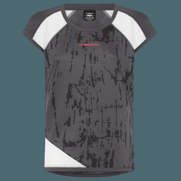 Action T-Shirt Women Carbon/White