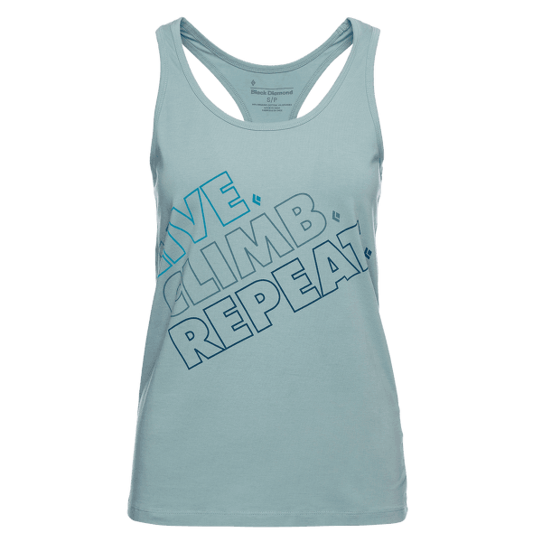 Live.Climb.Repeat. Tank Women Blue Ash