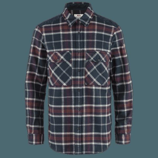 Övik Twill Shirt Men Dark Navy-Dark Garnet