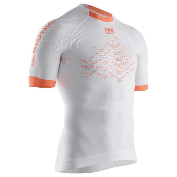 The Trick G2 Run Shirt SH SL Men White-Kurkuma orange