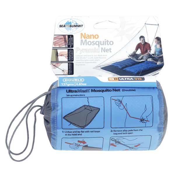 Nano Mosquito Net Double Blue-BL