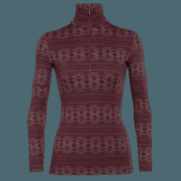 Vertex LS Half Zip Cristalline Women Redwood