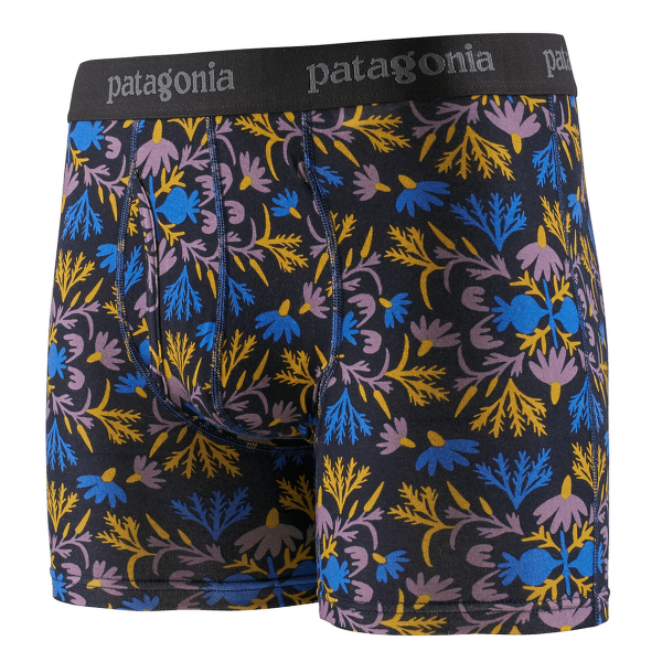 """Essential Boxer Briefs 3"""" Men Roots Reflected Small: New Navy"""