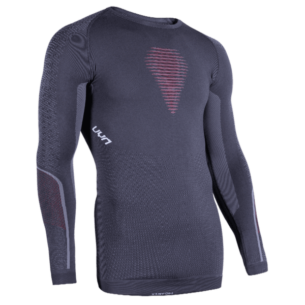 Visyon UW Shirt LS Men Charcoal/Red/White