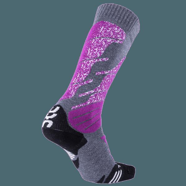 Ski All Mountain Women Medium Grey Melange/Purple