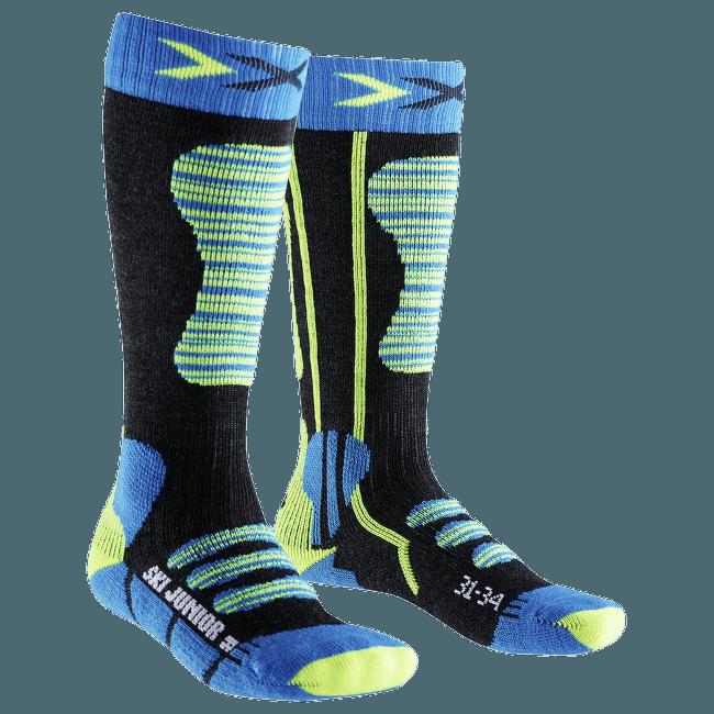 Ski Junior Socks Turquoise/Yellow