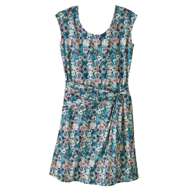 Seabrook Twist Dress Women Furnai Floral: Neo Navy