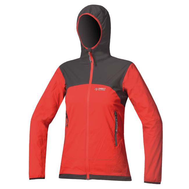 Gaia Jacket Women red/anthracite