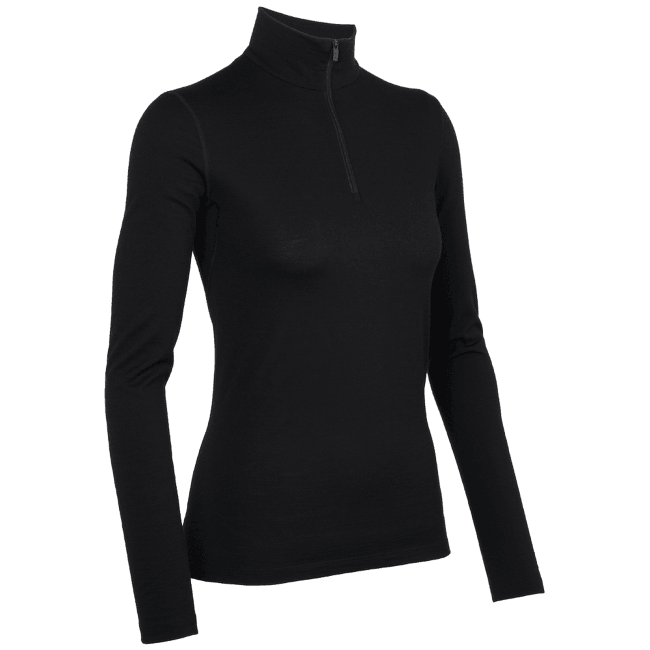 Oasis LS Half Zip Women Black