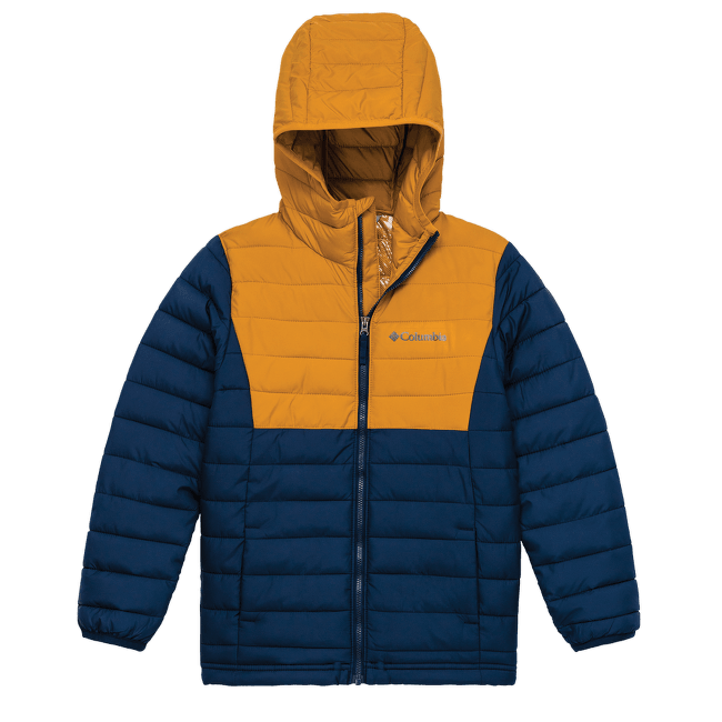 Powder Lite™ Hooded Jacket Boys Collegiate Navy, Canyon Gold 467