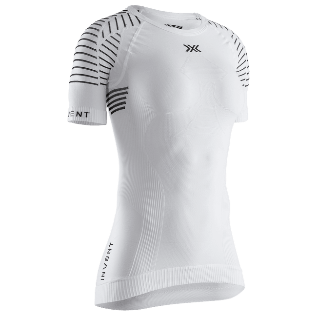 Invent® LT Shirt Round Neck SH SL Women Arctic White-Dolomite Grey