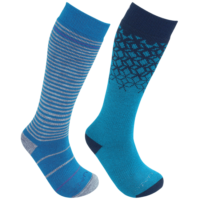 Merino Kids Ski 2 Pack - S2KN BLUE