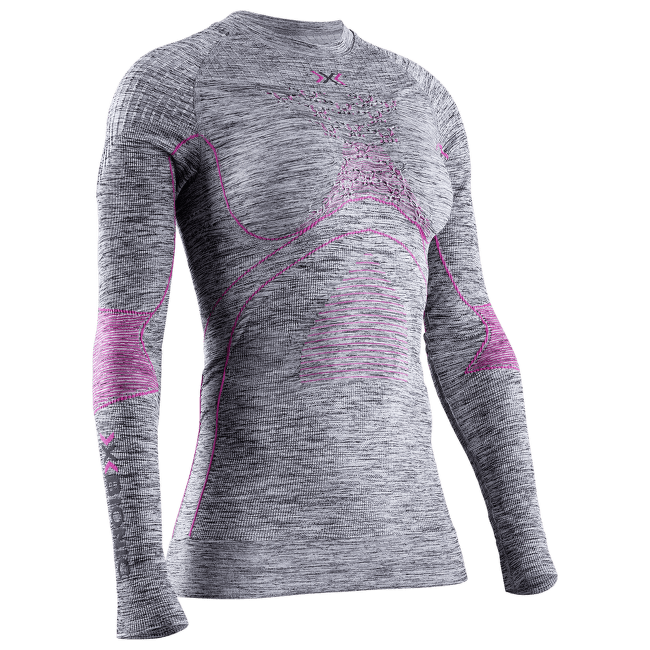Energy Accumulator 4.0 Melange Shirt Round Neck Women GREY MELANGE/PINK