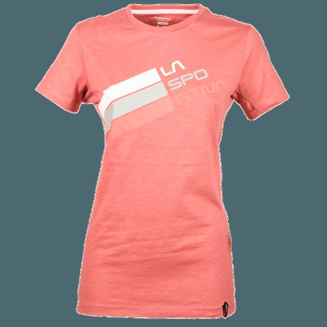 Stripe Logo T-Shirt Women Cipria