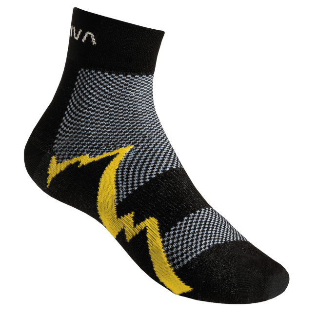 Short Distance Socks Black/Yellow