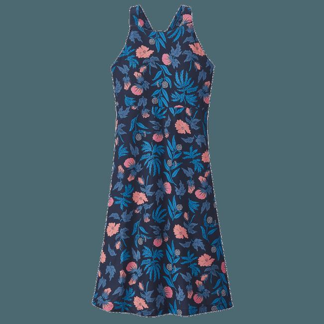 Magnolia Spring Dress Fiber Flora Multi Big: Joya Blue