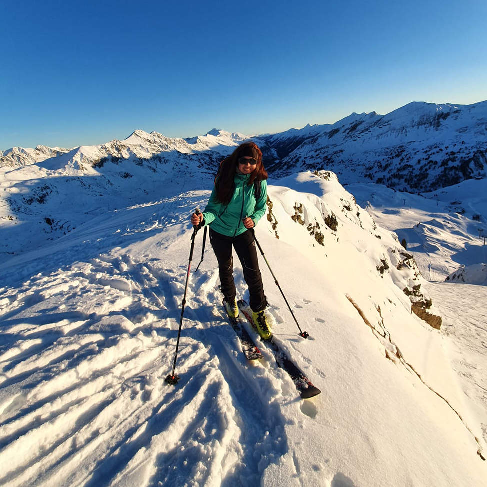Alpské hřebeny skialpové lyže