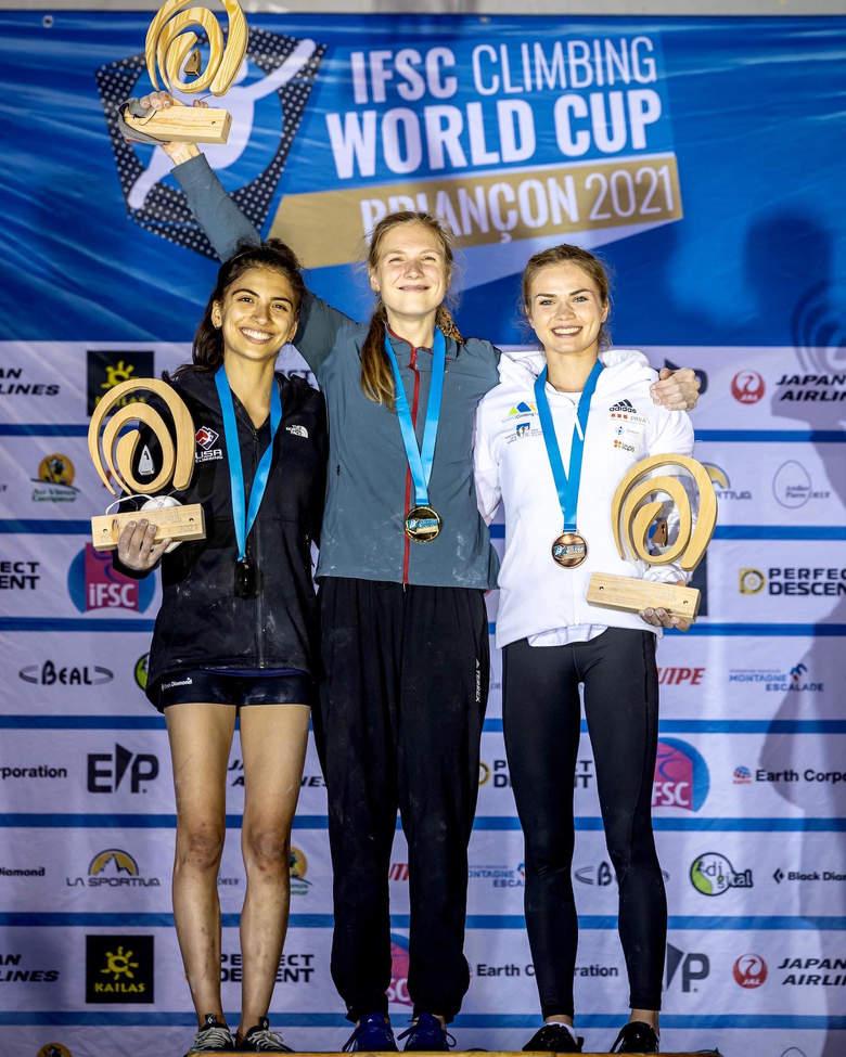 Eliška Adamovská vítězka Světového poháru v lezení na obtížnost 2021