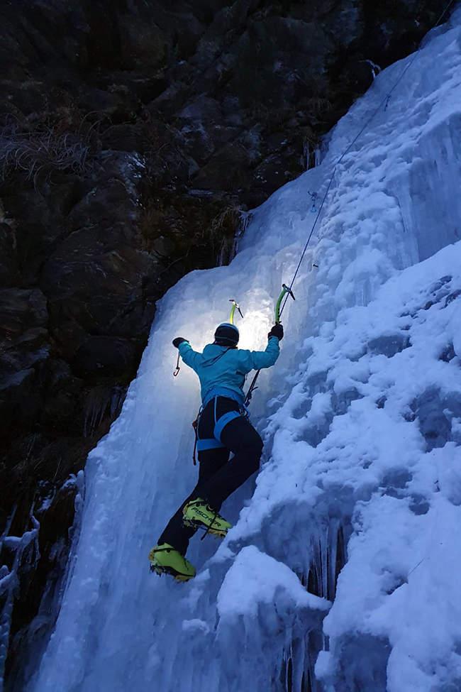 lezení v ledu Alpy