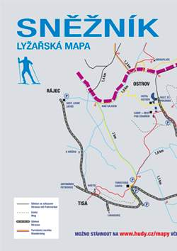 Lyžařská mapa Děčínský Sněžník