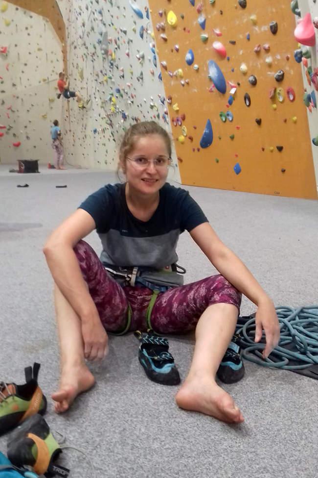 Kristina Novotná Merino na lezecké stěně