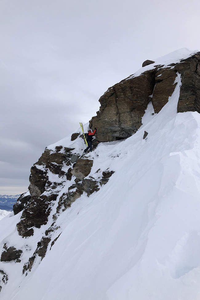 alpský hřeben bouldering