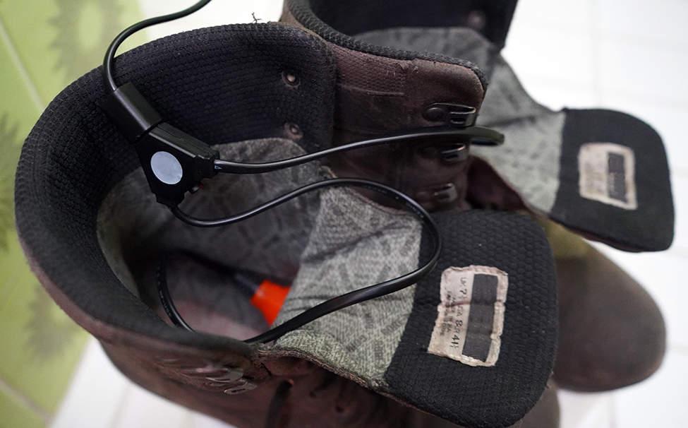 vysoušení bot