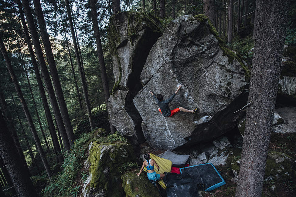 boulderování venku