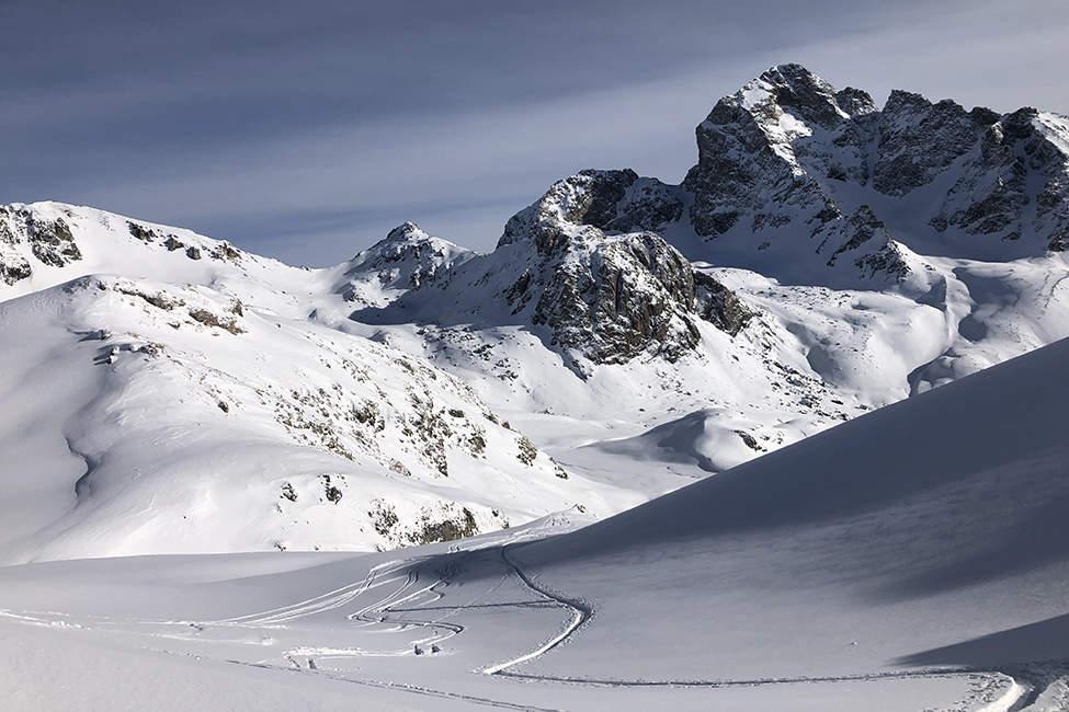 skialpový sjezd Alpy