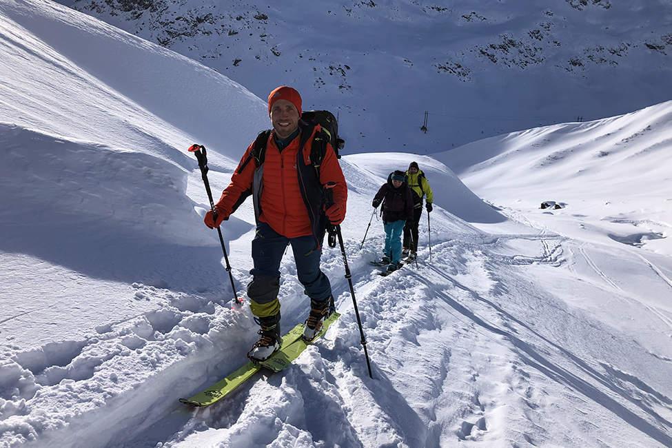 skialpový výšlap Alpy