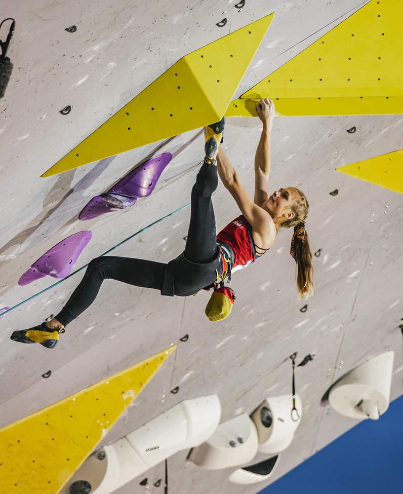 Eliška Adamovská sportovní lezkyně